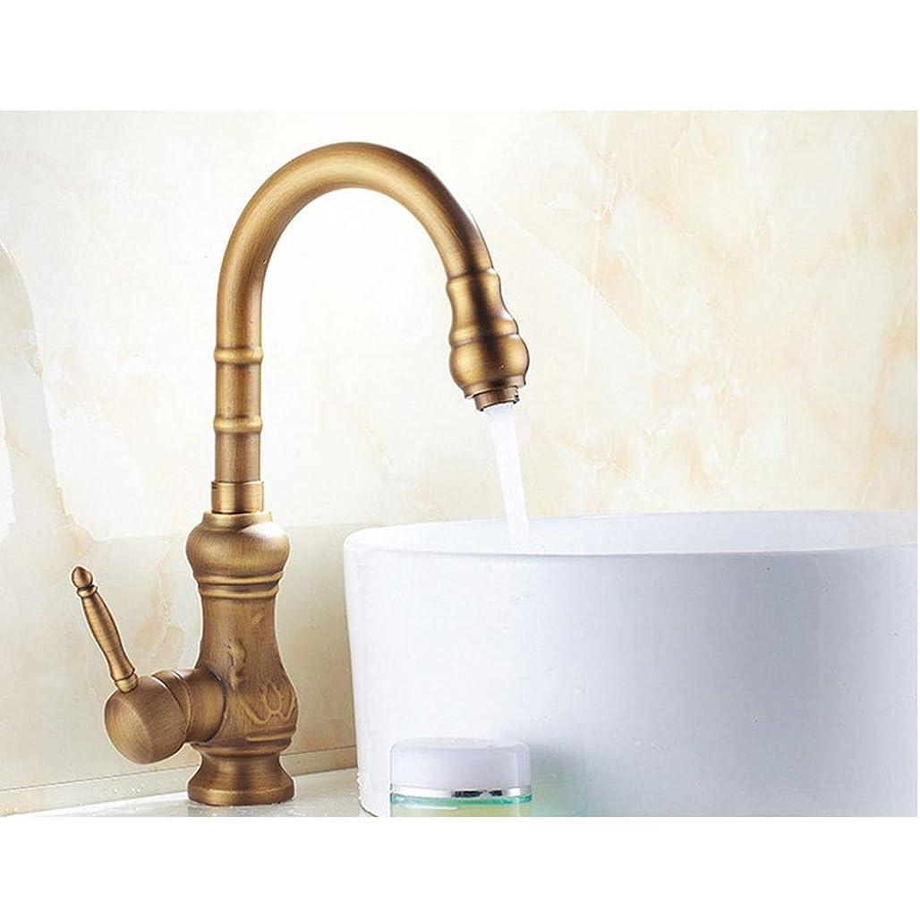 平方集中振り返るキッチン/ヨーロピアンアンティーク湯水栓/ 360°回転/銅+セラミックバルブコア/シート径3.5cm 作りが精巧である