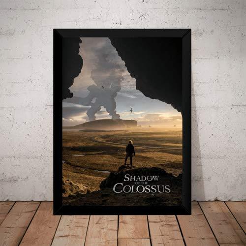 Quadro Game Shadow Of The Colossus Arte Poster Moldurado