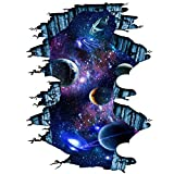 Galaxy Wall Sticker ,Outer Space Removable Floor Decals,Art Magic 3D Milky Way Home Decor Kids Children Bedroom
