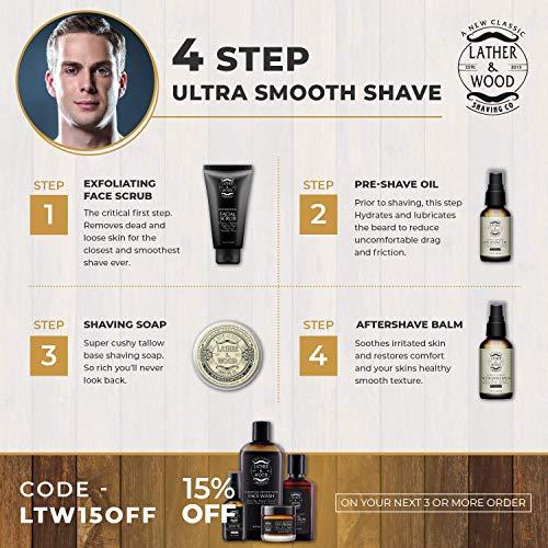 Best Pre-Shave Oil, Sandalwood, Premium Shaving Oil for Effortless Smooth Irritation-free Shave. 1...
