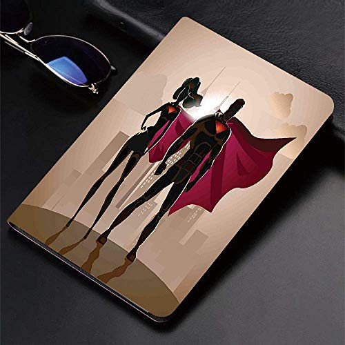 Case for iPad (9.7-Inch, 2018/2017 Model, 6th/5th Generation)Ultra Slim Lightweight Smart Cover,Superhero,Super Woman Man Heroes in City Hot Couple in Costume Pattern,Beig,Smart Covers Auto Wake/Sleep
