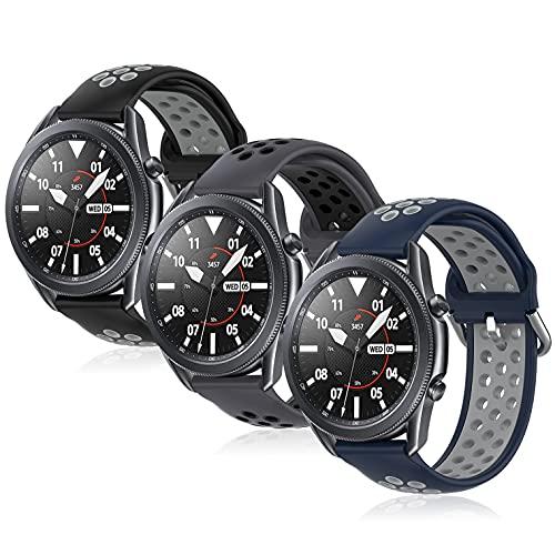 Correas de repuesto compatibles con Samsung Galaxy Watch 46 mm Galaxy Watch 3/Gear S3 45 mm 22 mm Correa de reloj inteligente para hombres y mujeres (anchura de 22 mm)