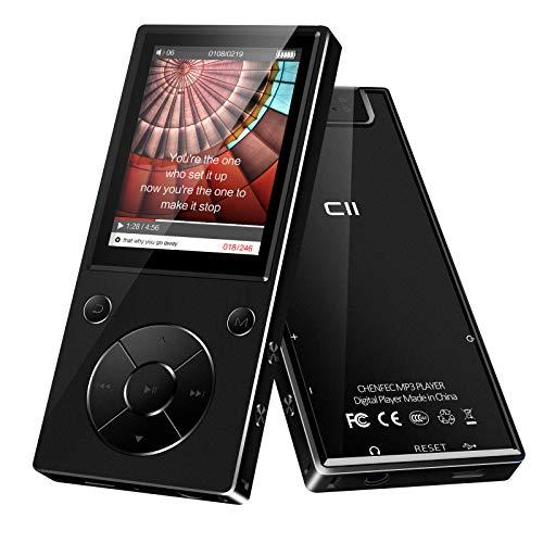 Reproductor de MP3, 32 GB, Bluetooth, Reproductor MP3 con Auriculares, Reproductor MP3 para niños con Altavoz, Radio FM, grabadora de Voz, Pantalla TFT de 2,4 Pulgadas, Memoria Ampliable hasta 128 GB