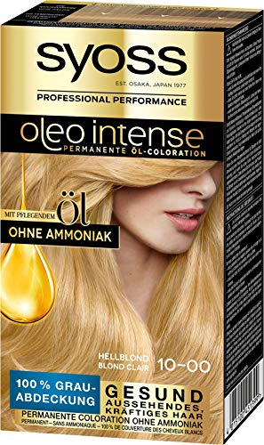 Syoss Haarfarbe Coloration Hellblond 10-0 Stufe 3, 3er Pack(3 x 115 ml)