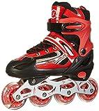 Rollers pour Enfants/Adolescents, à Taille réglable - roulis Avant Luminous - Rouge S (30-34)
