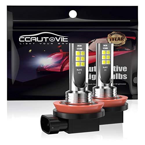 CCAUTOVIE Bombilla LED Antiniebla Coche H11 H8 para Luces Antiniebla Circulación Diurna DRL 60W 6000K Blanco
