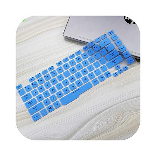Keyboard cover - Carcasa protectora de teclado para ordenador portátil ASUS Rog Strix G G531 15 G531G G531GU G531GD G531GT G531GW de 15 pulgadas, silicona, color azul