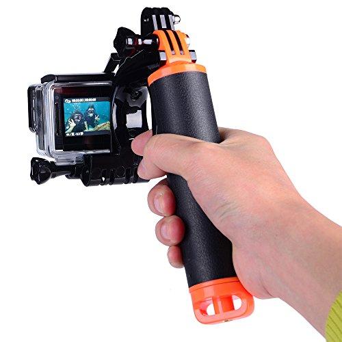 Suptig - Kit impugnatura impermeabile galleggiante con grilletto di scatto per fotocamere GoPro Hero 5,Hero 4,Hero 3, Hero 3+, Yi Action, Yi 4K, Yi 4K+ Action e SJCAM