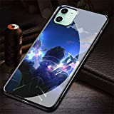HZZAWDHL Funda iPhone 12 Pro MAX Case Tempered Glass Phone Case Sa Ilor M Oon Crystal R-298