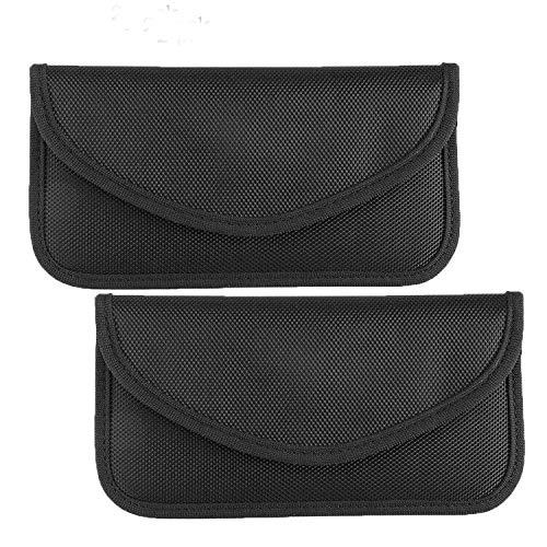 Faraday-Tasche , Autoschlüssel-Signalblocker-Tasche RFID-Signalblocker-Tasche , Diebstahlsicherung Faraday-Tasche für Autoschlüssel FOB- & Handy-Blocker-Tasche ,(2er Pack)