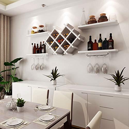 FBJJ Wine Rack Portabottiglie, Mensola a Muro per Vino Mensola per Vino in Legno