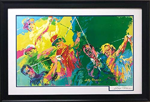 "LEROY NEIMAN ""Golf Champions Newly Custom Framed Hand Signed Lithograph Art"