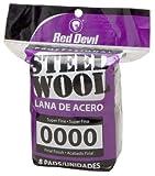 Red Devil 0320 Steel Wool, 0000 Super Fine, (Pack of 8)