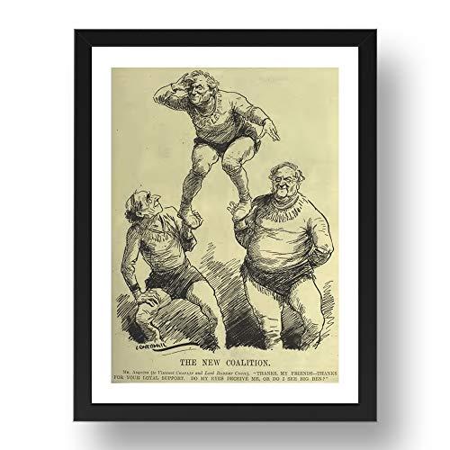 Period Prints Asquith Paisley, Viscount Chaplin, Robert Cecil, WW1 Era, 1920, stampa storica, riproduzione A3 in cornice nera 17x13