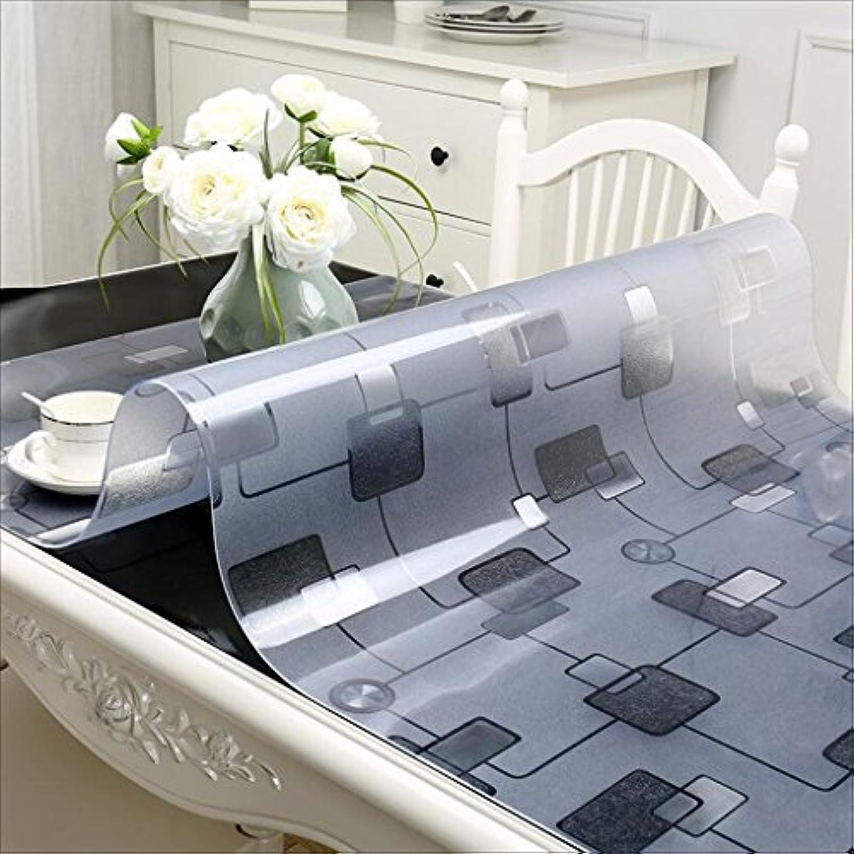 Tao Tischdecke Weichglas PVC Grid Tischdecken Kaffeetisch Matten Wasserdicht und lBestendig Tischabdeckung Kristallplatte (gre   35.4  63.0inch)