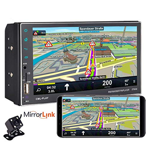 PolarLander 7 Pouces Android écran Tactile autoradio HD 2DIN Bluetooth Navigation GPS Support USB U Disque stéréo MP5 AUX entrée Audio FM