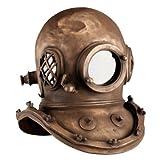 Design Toscano Deep Sea Diver's Helmet Replica Statue, 16 Inch, Fiberglass Polyresin, Bronze Finish
