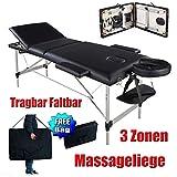 Massageliege 3 Zonen Klappbar Massagetisch Massage Kosmetik Bank Tisch klappbar