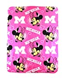 The Northwest Company NCAA Michigan Wolverines Minnie Mouse Character Fleece Throw, 40 x 50-inches , Pink