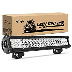 6 best led light bars to buy with reviews 2017 research nilight 20 inch led light bar aloadofball Image collections