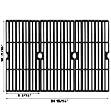 Uniflasy Cast Iron Cooking Grid Grates for Charbroil Advantage 463343015, 463344015, 463344116, Kenmore, Broil King and Others Gas Grill Models, G467-0002-W1, 16 15/16 Inches, 3 Pack