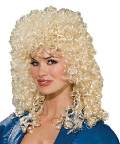 Forum Novelties Women's 80's To The Maxx Wild Curl Wig, Blonde, One Size