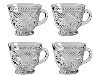 Anchor Hocking Wexford Clear Glass ( 7 Oz Punch, Coffee or Tea Cup / Set of 4 )