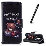 Slynmax Schutzhülle für Galaxy S9, Ledertasche Wallet Case Handyhülle Kompatibel mit Samsung Galaxy S9 Hülle Klapphülle Lederhülle Stoßfest Handytasche Stand Kartenfächer Magnetverschluss,Telefon