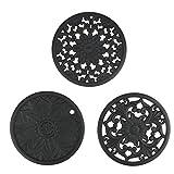Brynnl - Tapete de silicona para salvamanteles, 3 piezas, flexibles, duraderos, antideslizantes, para mesa, para ollas calientes, tapete de silicona para mesa, tapete de cocina para sartenes, platos