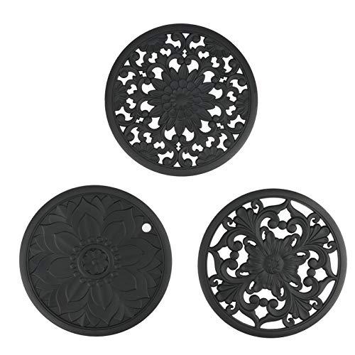 Sottopentola in silicone Brynnl, 3 pezzi, flessibile, resistente, antiscivolo, tavolo da cucina, tappetino da tavolo, tovagliette per porta pentole calde