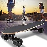 WQSFD Planche À roulettes Électrique Planche à roulettes Longboard avec Télécommande et Système de Démarrage de Poussée Vitesse 15km/h,pour Enfants/Adolescents/Adultes