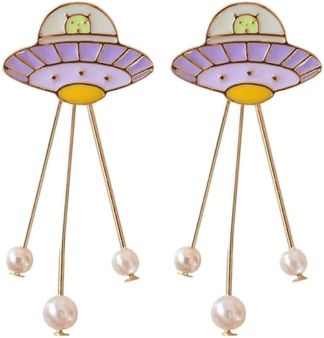Rcsinway Ms Jewelry famous Japanese Planet Pearl Cute Brooch Sales of SALE items from new works St Fashion
