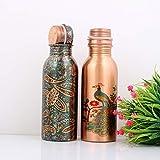 AANVI Creations Printed Copper Bottle (2 Bottles 750ML)