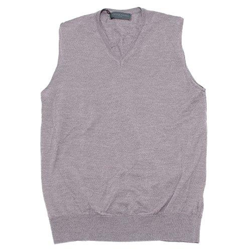 Daniele Fiesoli 5921U Gilet uomo Lana Grigio Wool Grey Sweater Man [M]