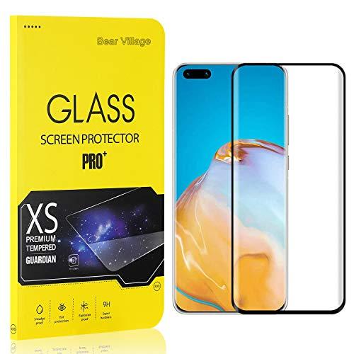 Bear Village Verre Trempé pour Huawei P40 Pro, Film Protection Écran Vitre HD pour Huawei P40 Pro, Dureté 9H, 3D-Touch, Installation Facile, 4 Pièces