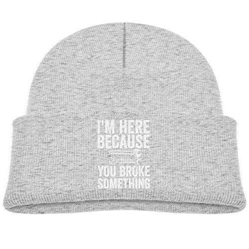 Sng9o Gorro unisex con texto en inglés 'I'm Here Because You Broke Something Kids Hip Hop Breakdance', de algodón suave
