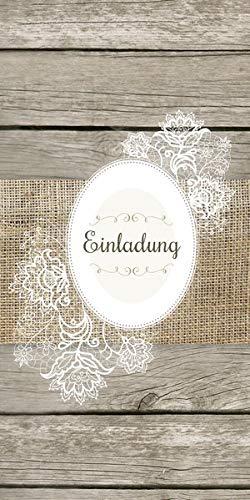 Ja, Ich will! Einladungskarten: Romantische Einladung zur Hochzeit - inkl. Kuverts