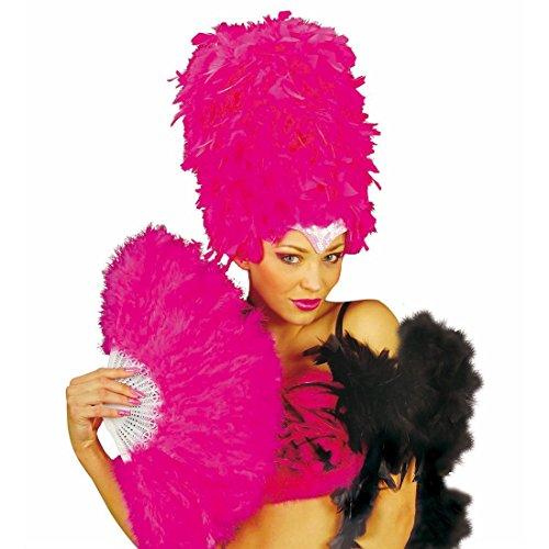 NET TOYS Eventail Plumes Burlesque éventail Samba éventail refermable Flamenco Rose éventail Rio éventail à Plumes Spectacle Accessoires déguisement Carnaval