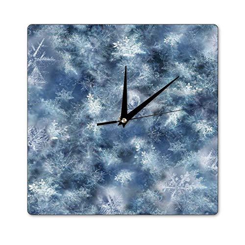 Mari57llis Reloj clásico de madera, no hace garras, Hoffman 2, reloj de pared cuadrado de 35 x 35 pulgadas, reloj decorativo para cocina, sala de estar