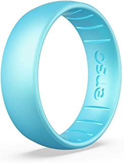 Lifetime Quality Guarantee and Safe Comfortable Ruby, 13 Enso Rings Classic Birthstone Silicone Ring Made in The USA Breathable