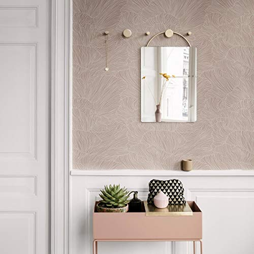Ferm Living Coral Tapete, Staubrosa/Beige
