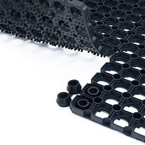 Connecteurs pour tapis caillebotis etm® Octo Door | compatible avec tapis d'épaisseur 16 + 20mm | lot de 10 connecteurs