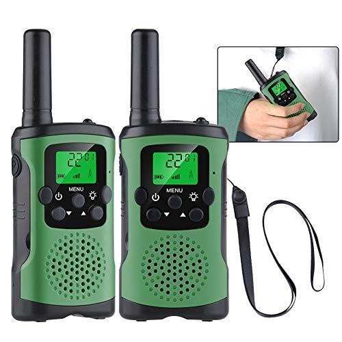 Walkie Talkie, ML339 Niños al Aire Libre Radio, Alcance de 3 Millas, 8 Canales,Pantalla LCD y Linterna Incorporado