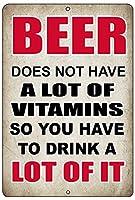 ヤクザ川戦術面白いビールアルコールマーク金属スズマークファミリーバーキッチンビールビタミン