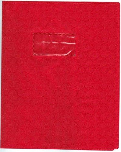 CLAIREFONTAINE Protège-cahier Grain Losange 18/100ème 17x22 Rouge