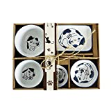 Watenkliy Vajilla japonesa para sushi, porcelana, 6 piezas
