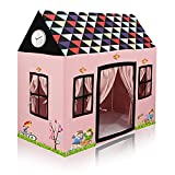 Sukan Tex Jumbo Size Extremely Light Weight Water Proof Kids Play Tent House for 3 to 10 Year Old Girls and Boys (Multi-Color ) (Delex House) (Pink)