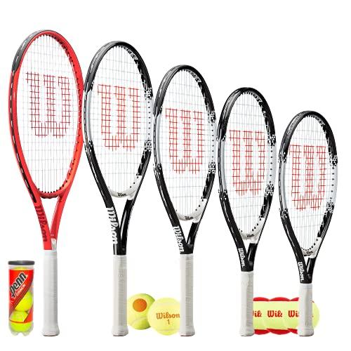 Wilson Federer - Raqueta de tenis para niños (66 cm)