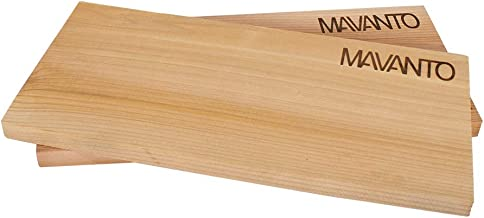 MAVANTO XXL Grillbretter Räucherbretter - Kanadisches Zedernholzbrett zum Grillen - EXTRA DICK 30x14x1,5cm langlebig & wiederverwendbar 2er Set