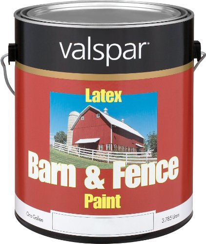 1 Gallon White Exterior Barn & Fence Latex Paint 18-3121-70 GL